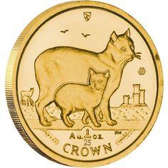 Gold Bullion Coin Manx cat 2012  1/25 oz  Isle of Man