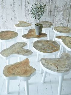 Nordic house tables, all tree stump donations welcome so I can make my very own.