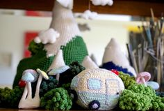 Mini Vintage Caravan #Crochet Pattern free from Greedy for Colour