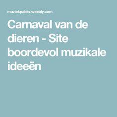 Carnaval van de dieren - Site boordevol muzikale ideeën