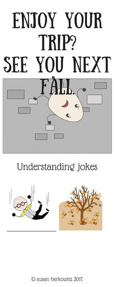 Susan Berkowitzs Free Riddles for Language Development   Students who have language disorders often miss the point of jokes or dont understand whats so funny because they lack the flexibility of vocabulary to understand that the answer lies in a multiple meaning word or a homophone or a metaphor.  Speech-language therapy time may sound like just having fun when we teach our students jokes but they need to learn how to understand and respond to jokes in order to fit in socially with their…