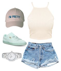 """Untitled #93"" by jadechanteon ❤ liked on Polyvore featuring Puma and FOSSIL"