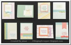 CTMH Whimsy Paper Fundamentals with Birthday Sparkles stamp set