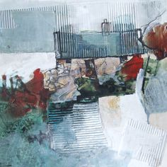 July 2017 – scraggly lines Collages, Collage Art, Abstract Landscape, Landscape Paintings, Landscapes, Building Painting, Encaustic Art, Abstract Canvas, Figurative Art