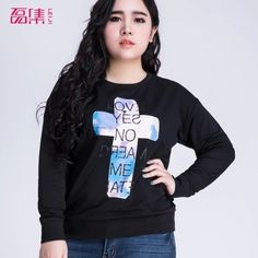 Cheap Hoodies & Sweatshirts, Buy Directly from China Suppliers:        2015 Casual Women Sweatshirt Letter Printed Spring&Autumn Sport Suit Loose Hoodie Fashion Coat F