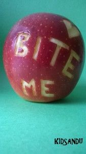 wymowne jabłko :)