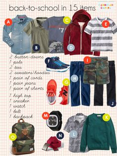 Cardigan Empire: Back to School for Boys in 15 Items