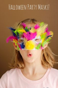 Make Halloween Party Masks with Kids