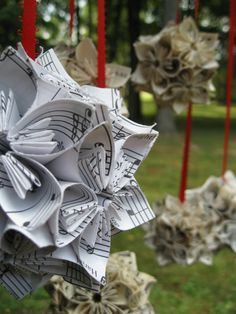 Six Upcycled Vintage Christmas Sheet Music by TreeTownPaper, $90.00