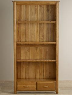 Osaka Rustic Solid Oak Large Bookcase