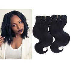 2Bundles/lot 50g/Bundle Short Size 8Inch Brazilian Bodywave Human Hair Extensions 100% Ombre Human Hair Weave