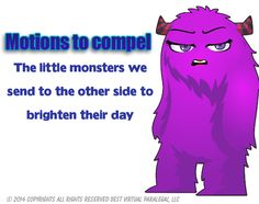 Motion to compel -- Paralegal Humor