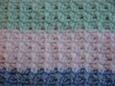 Easy Crocheted Striped Baby Blanket