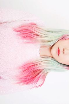 From light green to hot pink - amazing pastel hair ~ obsesión: pelos de colores
