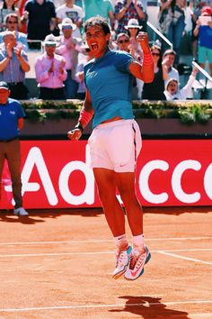 Neither fashion guru nor tennis expert, but I as a casual fan of both I wanted to chronicle some of my favorite looks. Nadal Tennis, Tennis Fashion, Tennis Dress, Rafael Nadal, Tennis Players, Madrid, My Love, Casual, Sports