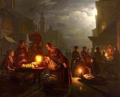 Petrus Van Schendel (1806-1870) The Candlelit Market Oil on canvas  99.6 x 78.7 cm (3 3.21 x 30.98)