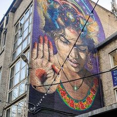 Telliskivi, Tallinn. Tomorrow I will travel to Tallinn with my friends. A weekend to explore new restaurants, eat good food and see new architecture and city wonders.This lady lives in a trendy Telliskivi area. Most probably we'll see her again!Please recommend new restaurants, galleries and other places to see, especially at Telliskivi and nearby.#tallinn #estonia #telliskivi #streetart #art #painting #mural #lady #girl #restaurant #weekend #travelblogger #timokiviluoma
