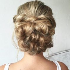 I ❤️ bridal hair styling #heatherchapmanhair #updo #weddinghair #prettyhair…