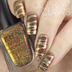 Burnin' Up (H) with Cici & Sisi stamping - nail design