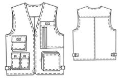 example - #6045 Vest with pockets hmmmm this looks hard....
