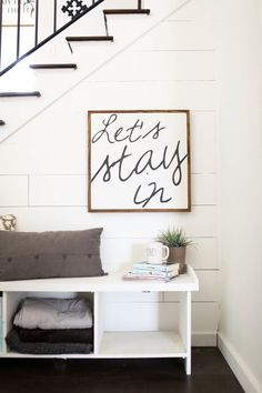 We love the cozy and fun factor that this sign can bring to your home! Its also versatile, working well in a living room, kitchen, or bedroom.  This sign is 26x26. Choose the background, lettering, and frame color at checkout. The frame gives it dimension, ease for hanging, and most importantly that farmhouse inspired, Joanna Gaines approved style. I do accept custom orders. No two signs will look exactly alike, as all are hand painted and hand distressed. Follow our shops story on…