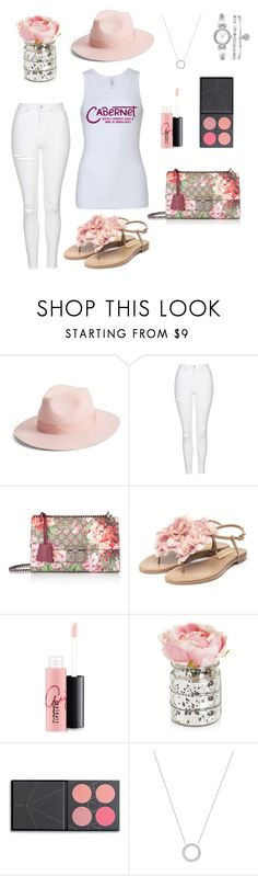 Sunday Funday Fashion-Pink Palete by winewomenandwhatnot on Polyvore featuring Topshop, Rupert Sanderson, Gucci, Michael Kors, Anne Klein, Lack of Color, ZOEVA and MAC Cosmetics