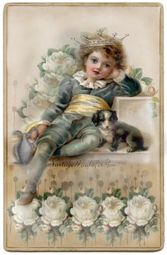"""Free Image """"Girl with Doves""""     Here comes an image you can put in the margin of your blogs (sidebar).   You can also use it to scrap..."""