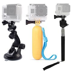 buy now   £14.99   Features:  Material: High Quality Plastic, Metal, Nylon.  Suction Cup Mount:Quick release base makes moving between shots and locations quick and convenient. Simple and  ...Read More
