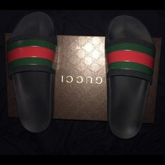Gucci sandals Everyone's favorite sandal/ flip flop, minor flaws  which are scuffs and scratches Gucci Shoes Slippers