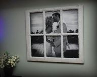 Great idea to put a picture behind an old frame!