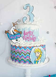 Chrissi Shields: Disney Frozen Birthday Party Cake. Also check out my Frozen theme tutus and party favors. www.partiesandfun.etsy.com