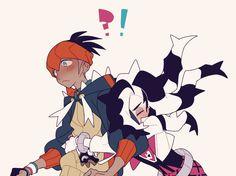 Pokemon Guzma, Pokemon People, Pokemon Ships, Pokemon Images, Pokemon Pictures, Pokemon Couples, Mudkip, Catch Em All, Ship Art