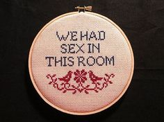 Cross Stitch Patterns 20 Fabulously Raunchy Cross Stitches (NSFW): 20 Fabulously Raunchy Cross Stitches - Crafts can be broken down into five major types: textile, paper, decorative, fashion and functional. See if you're ready to branch out your business. Cross Stitching, Cross Stitch Embroidery, Embroidery Patterns, Hand Embroidery, Cross Stitch Patterns, Embroidery Hoops, Naughty Cross Stitch, Snitches Get Stitches, Diy Broderie