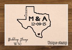 Mounted Rubber Stamp Outline Shape ALL 50 States Available W30 on Etsy, $8.00