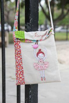 Ballerina cross-body bag for birthday girl