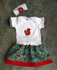 From Running With Scissors: Cute Summer Onesie Tutorial (decorate with a cute machine applique)