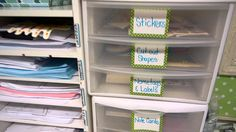 Teacher Desk Organization - We love how she uses the Really Good Writers Workshop Supply Station to organize her lesson plans!  http://bit.ly/1Clze5X