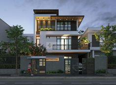 Ideas For Design House Front Modern Architecture Architecture Design, Modern Architecture House, Facade Design, Exterior Design, 3 Storey House Design, House Front Design, Villa Design, Design Design, Minimalist House Design