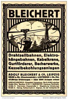Original-Werbung/ Anzeige 1919 - BLEICHERT EISENKONSTRUKTION - LEIPZIG - ca. 75 X 115 mm