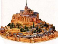 Mont Saint Michel Detailed Architectural Paper Model (A10)
