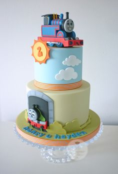 https://flic.kr/p/qNWxJU | Thomas the Tank Engine birthday cake