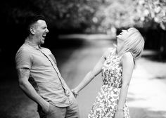 Adi & Alison's pre wedding shoot - sharing a funny moment together