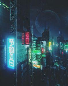 Electric Void by Mike Winkelmann Ville Cyberpunk, Cyberpunk City, Futuristic City, Cyberpunk 2077, Cinema 4d, Cgi, Cyberpunk Aesthetic, Neon Aesthetic, Neon Nights