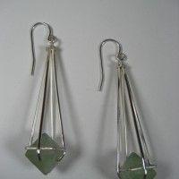 Fluorite Octahedron Earrings