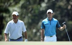One of these men shot 70 on Saturday at Augusta. (Getty Images)