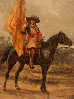 A Royalist standard-bearer
