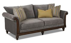 Simple Elegance West Jefferson Traditional Sofa With Exposed Wood    Gardiners Furniture   Sofa Baltimore,