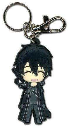 Sword Art Online Kirito Smiling Key Chain
