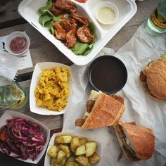Selection of dishes from Pulse Vegan, Austin's newest all-vegan trailer.