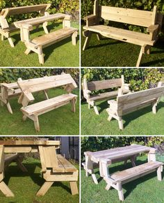 Folding Picnic Tablebenches I Made A Larger Version Of This - One sided picnic table
